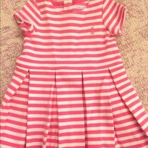 Baby girls Ralph Lauren striped dress